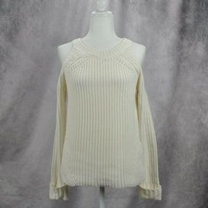 Hippie Rose Womens Cold Shoulder Sweater